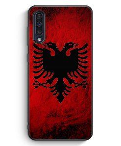Samsung Galaxy A50 Silikon Hülle - Albanien Splash Flagge