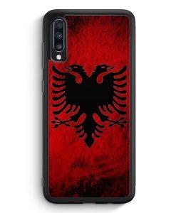 Samsung Galaxy A70 Silikon Hülle - Albanien Splash Flagge