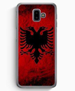 Samsung Galaxy J6+ Plus (2018) Hardcase Hülle - Albanien Splash Flagge