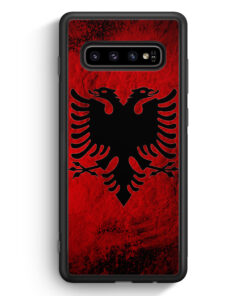 Samsung Galaxy S10 Silikon Hülle - Albanien Splash Flagge