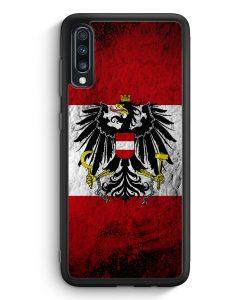 Samsung Galaxy A40 Silikon Hülle - Österreich Splash Austria Flagge