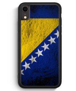 iPhone XR Silikon Hülle - Bosnien Splash Flagge Bosna Bosnia