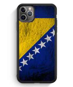 iPhone 11 Pro Silikon Hülle - Bosnien Splash Flagge Bosna Bosnia