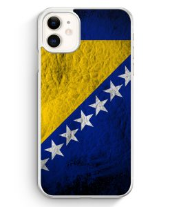 iPhone 11 Hardcase Hülle - Bosnien Splash Flagge Bosna Bosnia