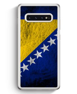 Samsung Galaxy S10+ Plus Hardcase Hülle - Bosnien Splash Flagge Bosna Bosnia
