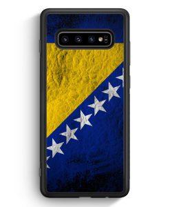 Samsung Galaxy S10 Silikon Hülle - Bosnien Splash Flagge Bosna Bosnia