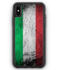 iPhone XS Max Silikon Hülle - Italien Splash Flagge Italia Italy