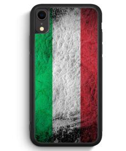 iPhone XR Silikon Hülle - Italien Splash Flagge Italia Italy