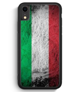 iPhone XR Silikon Hülle - Italien Splash Flagge Italia Italy