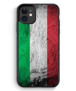 iPhone 11 Silikon Hülle - Italien Splash Flagge Italia Italy