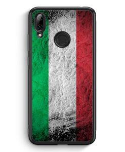 Huawei Y7 (2019) Silikon Hülle - Italien Splash Flagge Italia Italy