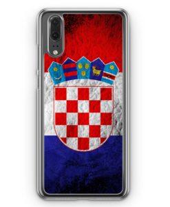 Huawei P20 Hülle Hardcase - Kroatien Splash Flagge Hrvatska Croatia