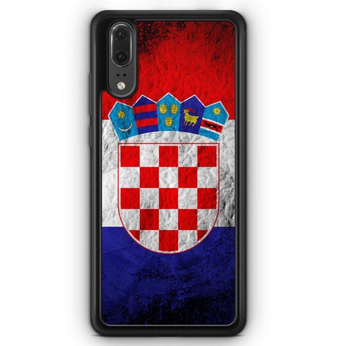 Huawei P20 Hülle Silikon - Kroatien Splash Flagge Hrvatska Croatia
