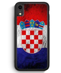 iPhone XR Silikon Hülle - Kroatien Splash Flagge Hrvatska Croatia