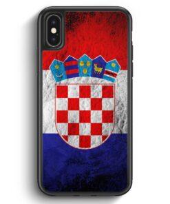 iPhone X & iPhone XS Silikon Hülle - Kroatien Splash Flagge Hrvatska Croatia