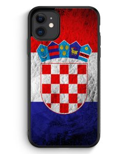 iPhone 11 Silikon Hülle - Kroatien Splash Flagge Hrvatska Croatia