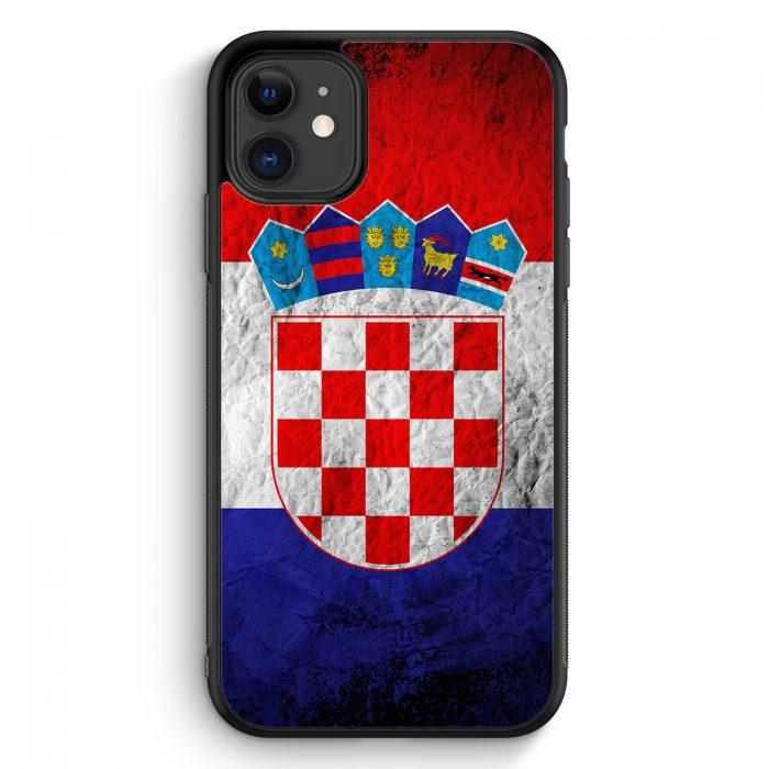 iPhone 11 Silikon Hülle - Kroatien Splash Flagge Hrvatska Croatia