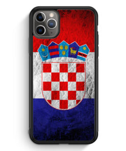 iPhone 11 Pro Silikon Hülle - Kroatien Splash Flagge Hrvatska Croatia