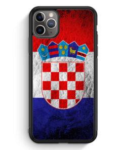 iPhone 11 Pro Max Silikon Hülle - Kroatien Splash Flagge Hrvatska Croatia