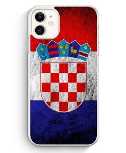 iPhone 11 Hardcase Hülle - Kroatien Splash Flagge Hrvatska Croatia