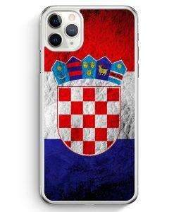 iPhone 11 Pro Hardcase Hülle - Kroatien Splash Flagge Hrvatska Croatia