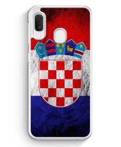 Samsung Galaxy A20e Hardcase Hülle - Kroatien Splash Flagge Hrvatska Croatia