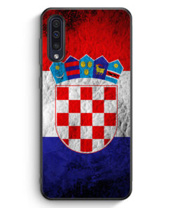 Samsung Galaxy A50 Silikon Hülle - Kroatien Splash Flagge Hrvatska Croatia