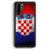 Huawei P30 Pro Silikon Hülle - Kroatien Splash Flagge Hrvatska Croatia