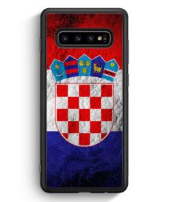 Samsung Galaxy S10 Silikon Hülle - Kroatien Splash Flagge Hrvatska Croatia