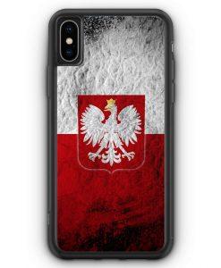 iPhone XS Max Silikon Hülle - Polen Splash Flagge Polska Poland