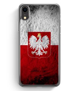 iPhone XR Hardcase Hülle - Polen Splash Flagge Polska Poland