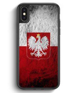 iPhone X & iPhone XS Silikon Hülle - Polen Splash Flagge Polska Poland