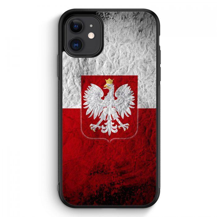 iPhone 11 Silikon Hülle - Polen Splash Flagge Polska Poland