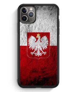 iPhone 11 Pro Max Silikon Hülle - Polen Splash Flagge Polska Poland