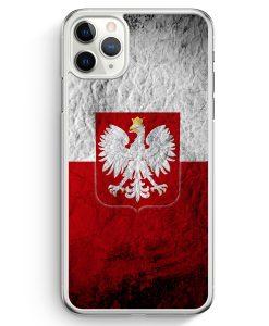 iPhone 11 Pro Hardcase Hülle - Polen Splash Flagge Polska Poland