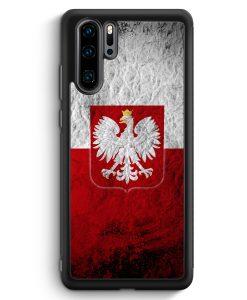 Huawei P30 Pro Silikon Hülle - Polen Splash Flagge Polska Poland