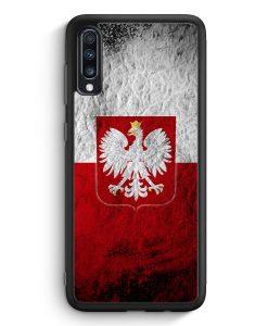 Samsung Galaxy A70 Silikon Hülle - Polen Splash Flagge Polska Poland
