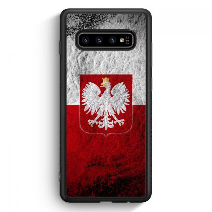 Samsung Galaxy S10e Silikon Hülle - Polen Splash Flagge Polska Poland