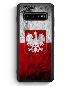 Samsung Galaxy S10 Silikon Hülle - Polen Splash Flagge Polska Poland