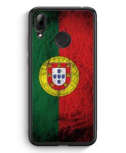 Huawei Y7 (2019) Silikon Hülle - Portugal Splash Flagge