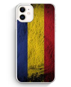 iPhone 11 Hardcase Hülle - Rumänien Splash Flagge Romania
