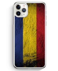 iPhone 11 Pro Max Hardcase Hülle - Rumänien Splash Flagge Romania