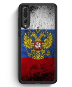 Huawei P20 Pro Hülle Silikon - Russland Splash Flagge Russia