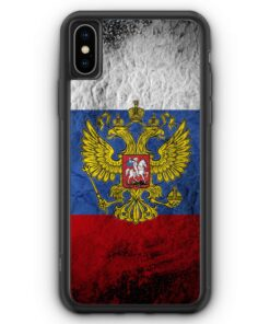iPhone XS Max Silikon Hülle - Russland Splash Flagge Russia