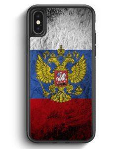 iPhone X & iPhone XS Silikon Hülle - Russland Splash Flagge Russia