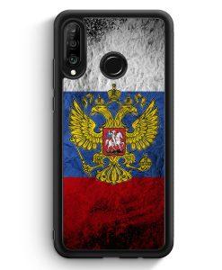 Huawei P30 Lite Silikon Hülle - Russland Splash Flagge Russia