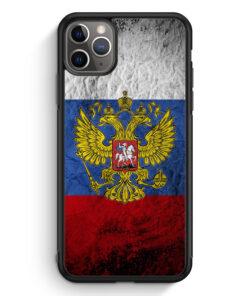 iPhone 11 Pro Max Silikon Hülle - Russland Splash Flagge Russia