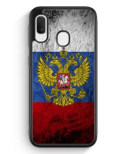 Samsung Galaxy A20e Silikon Hülle - Russland Splash Flagge Russia