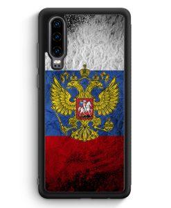 Huawei P30 Silikon Hülle - Russland Splash Flagge Russia