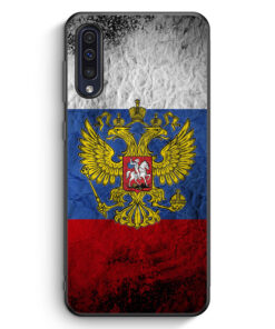 Samsung Galaxy A50 Silikon Hülle - Russland Splash Flagge Russia